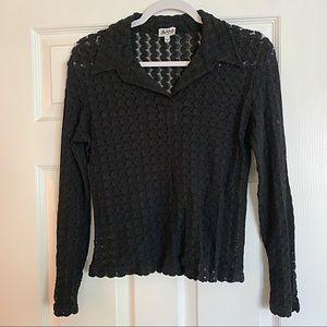 VTG J&ANS Dolce & Gabbana Black Sheer Blouse EUC